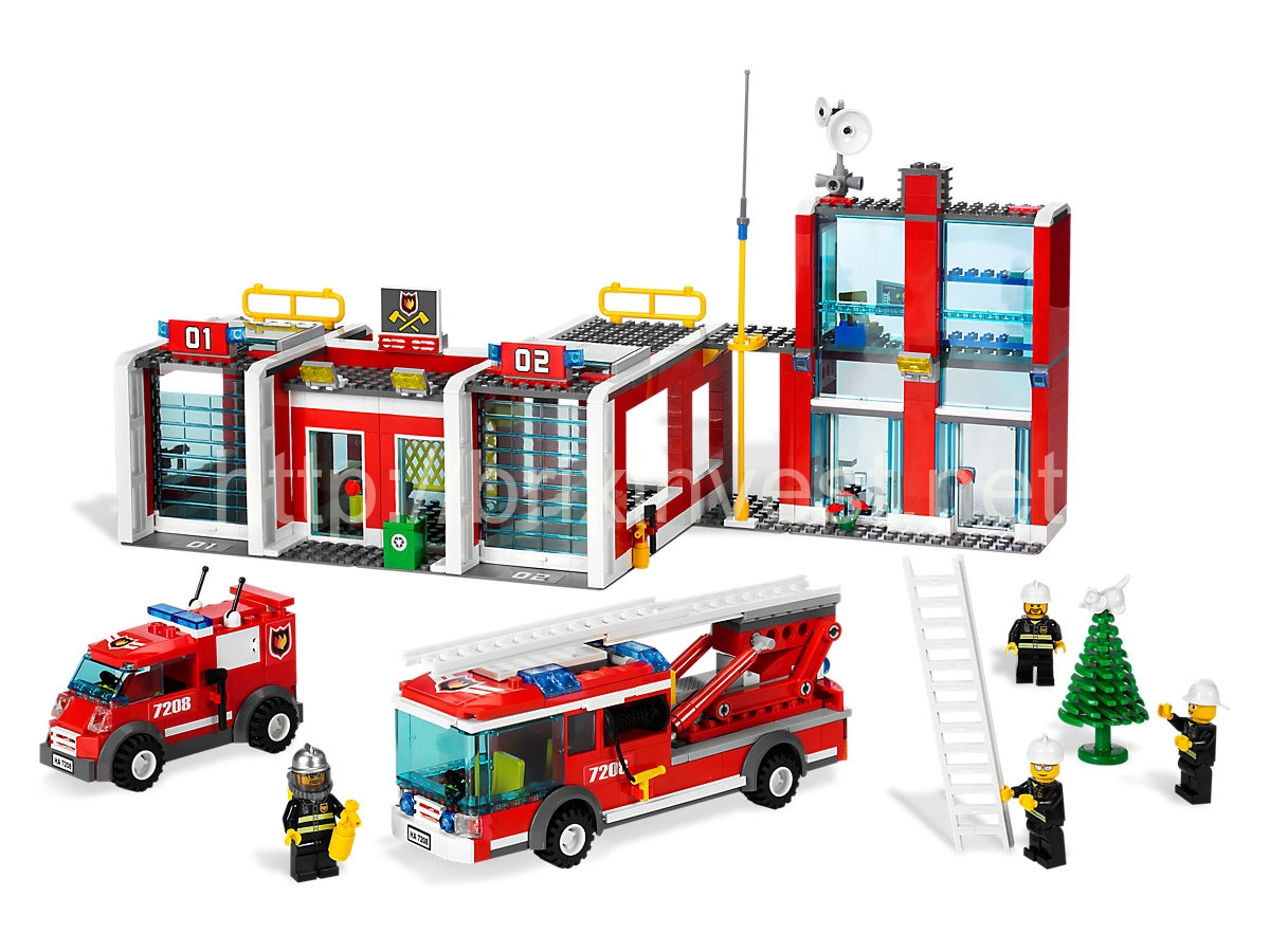 LEGO® City set 7208 - Fire Station, 2009 Release - brixinvest net
